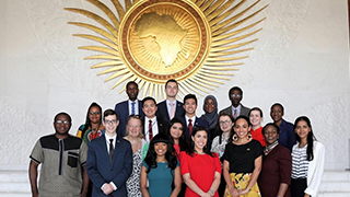 Students at the African Union.