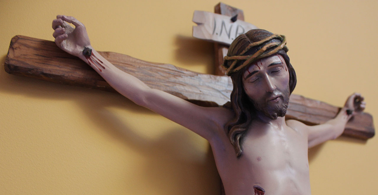 A picture of Jesus on the Crucifix