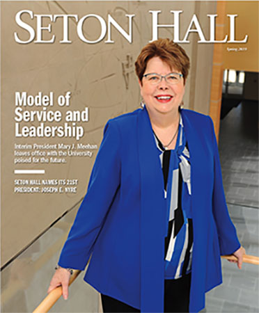 Seton Hall Magazine Cover Spring 2019