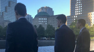 Leadership Students at 9/11 Memorial