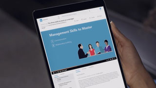 Linkedin Learning on a tablet