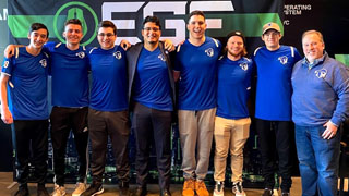 Seton Hall Esports competing in the 2019 EGF Rocket League Championship.